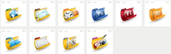 free Iconset Iconshock Folders