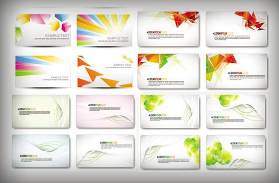 18 Modern Business Card Vector Templates Set for free download