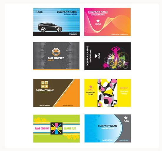 8 Stylish Business Card Vector Templates For Free Download
