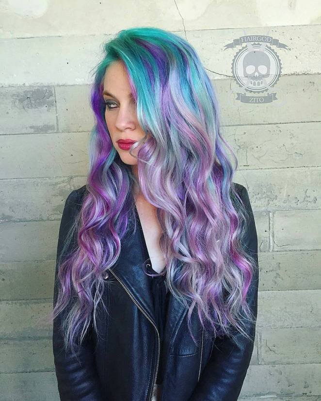 Colorful Hair style Ideas and Photo Choices for Parties1.20