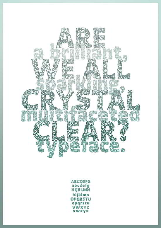 free crystal decorative fonts