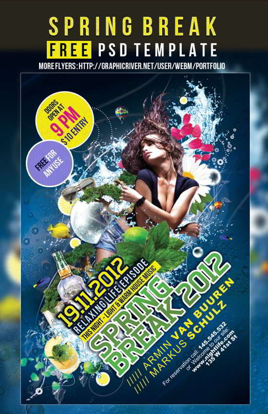 download patry flyer psd
