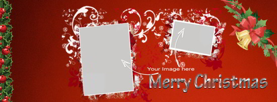 Christmas PSD cover image template