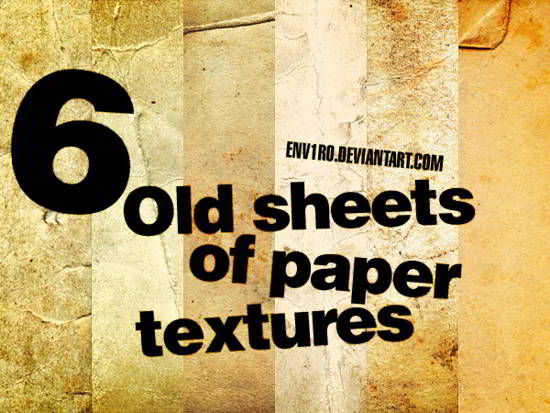 Old sheets of paper