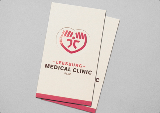 Leesburg Medical Clinic Business Card Design