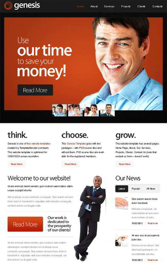 Free Website Template for Business