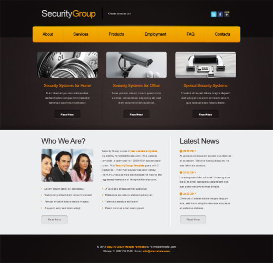 Free Website Template for Security Project