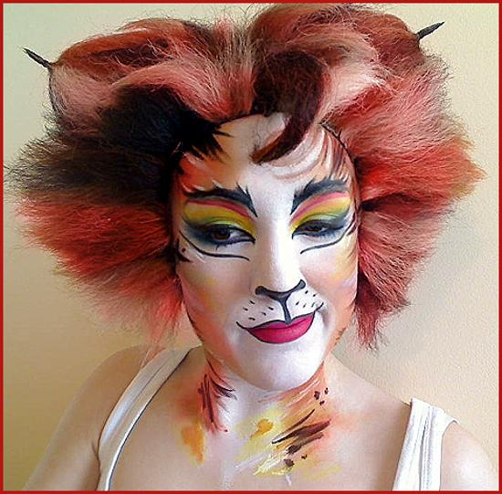 face painting bomba cats