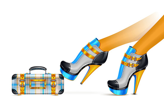 Create a Stylized Shoes and Clutch