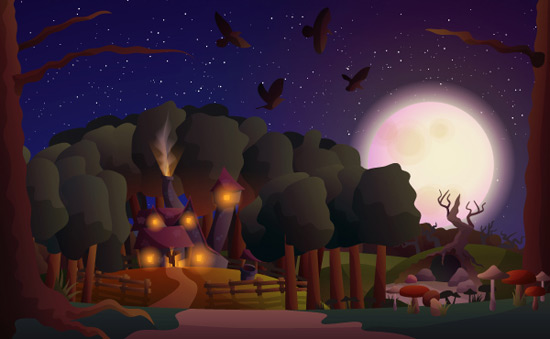 Create a Witch House Scene