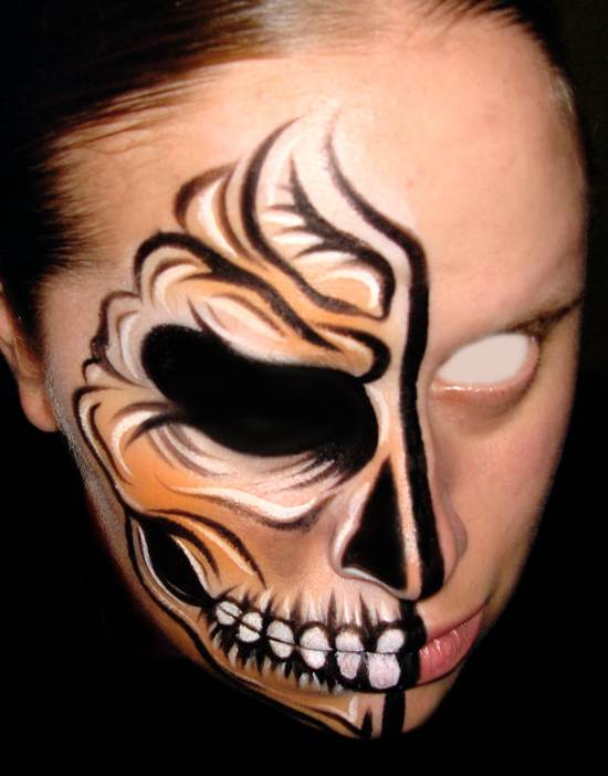 dead and buried face painting