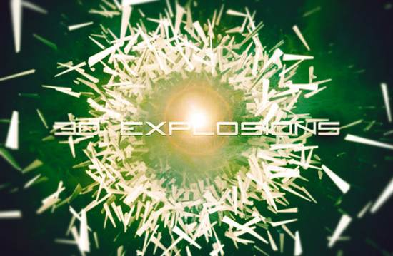 free 3D explosion brushes