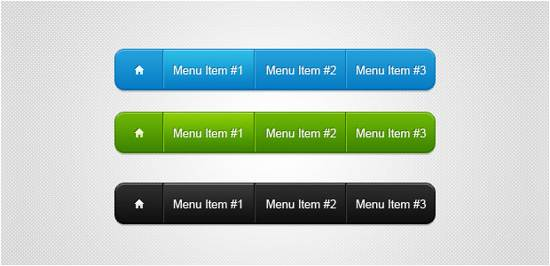 navigation bars psd for free