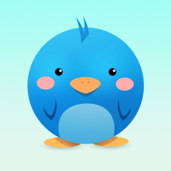 Cute and Adorable Twitter Icon in Photoshop
