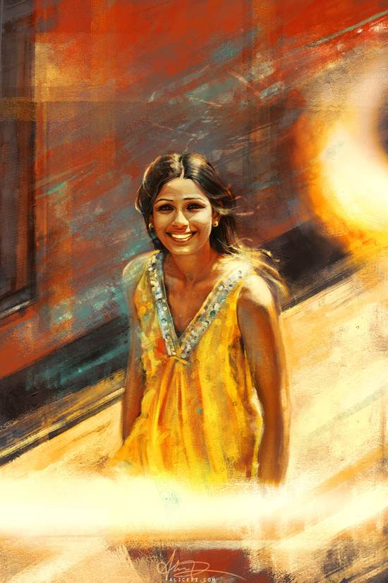 slumdog millionaire drawing and painting