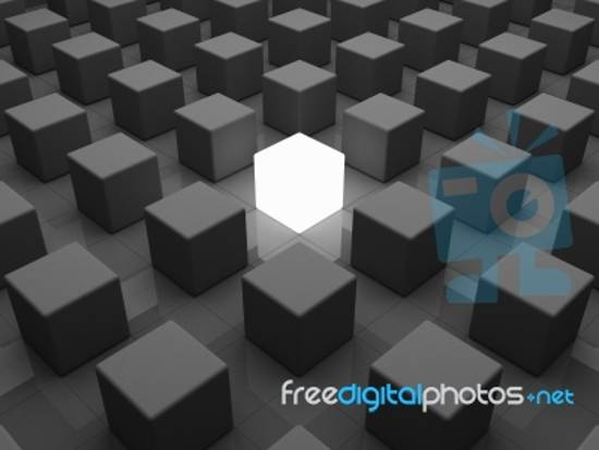 individuality concept stock image