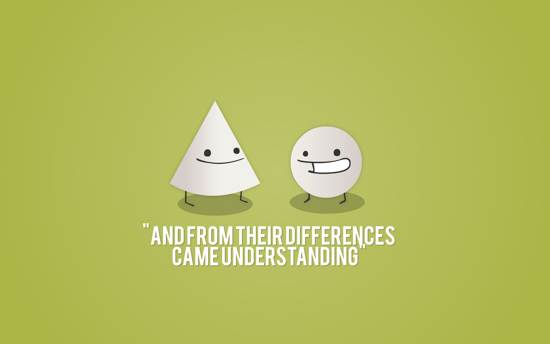 differences quote wallpaper