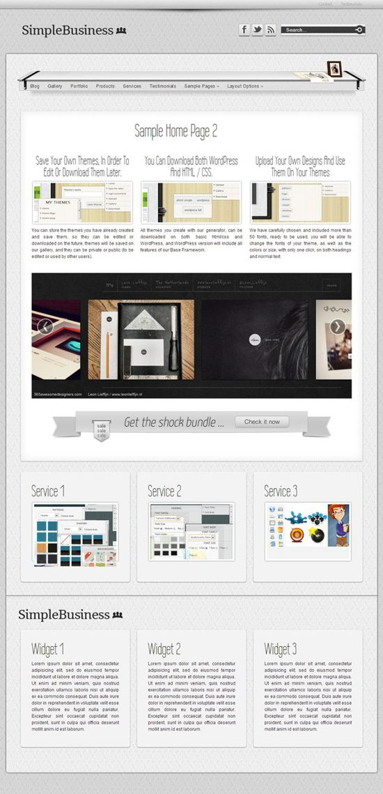 Classic Business Theme for WordPress.