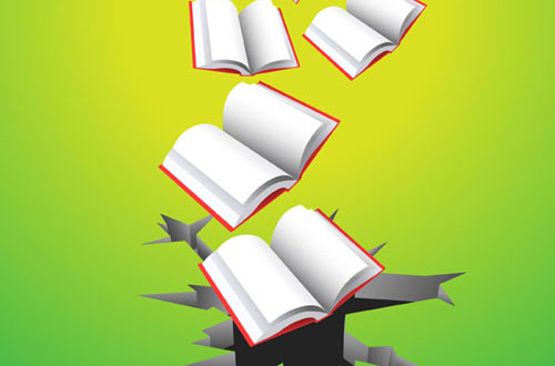 Flying Books Vectors