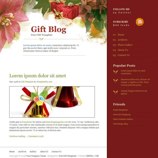 gift web templates