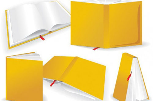 Vector Yellow Book Different Angles
