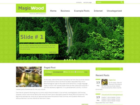 free magic wood wordpress theme
