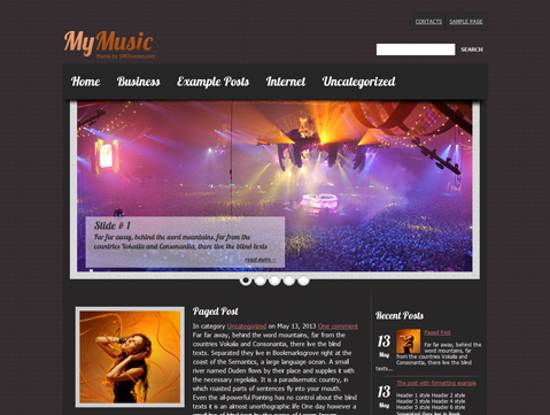 free music wordpress themes
