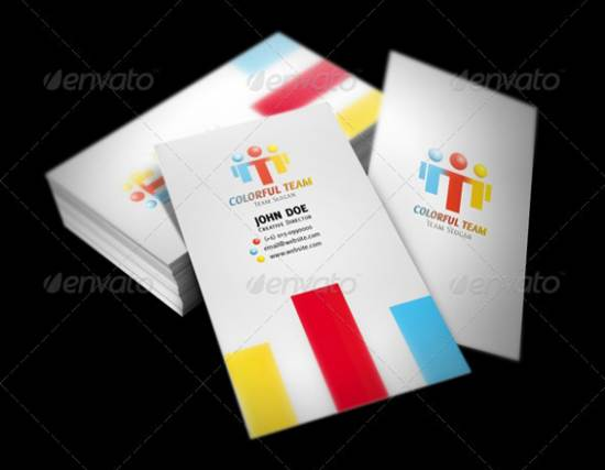 colorful visiting card template