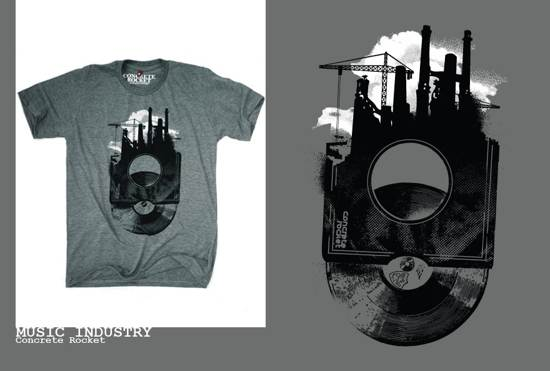 music industry t-shirt design