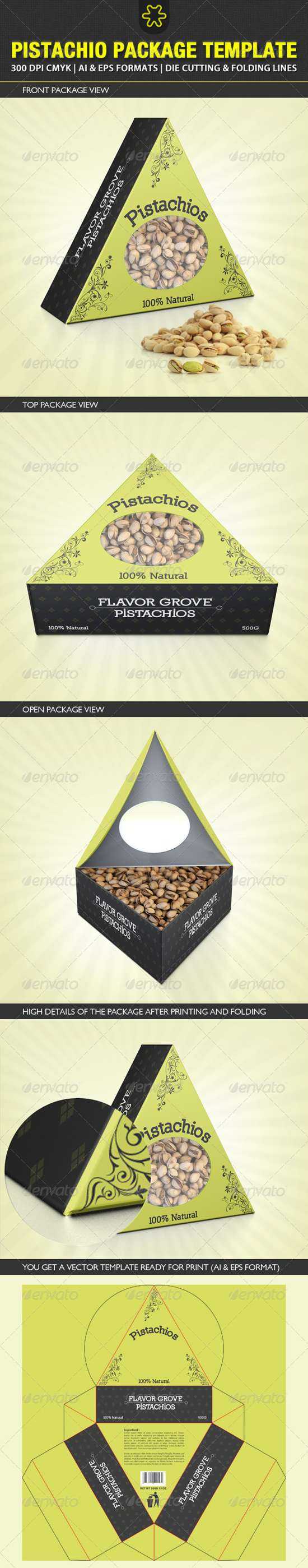 pistachio packaging template