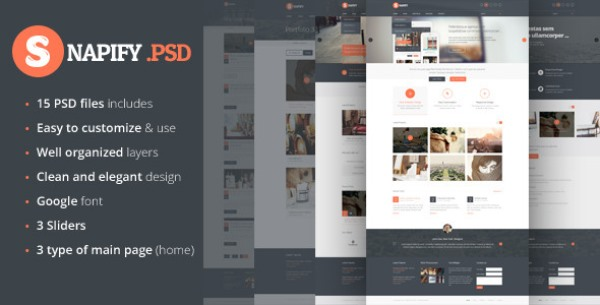Snapify - Clean and Modern PSD Template