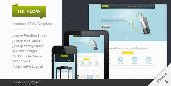 The Flow - Responsive One Page App Template