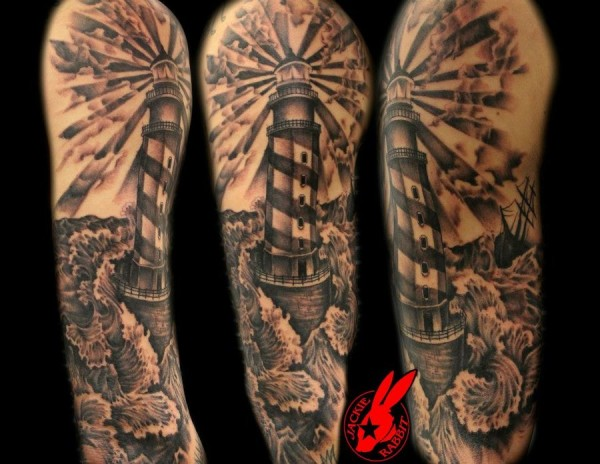 Lighthouse Sleeve Tattoo