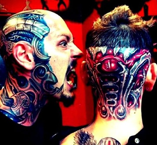 Bio-mechanical Tattoo Designs Examples (14)