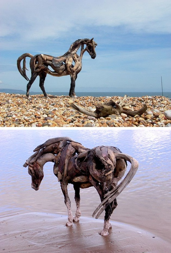 Creative Wooden Artworks and Sculptures2