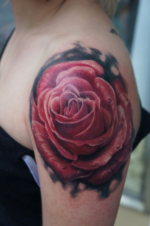 Attractive and Sexy Rose Tattoo Designs29