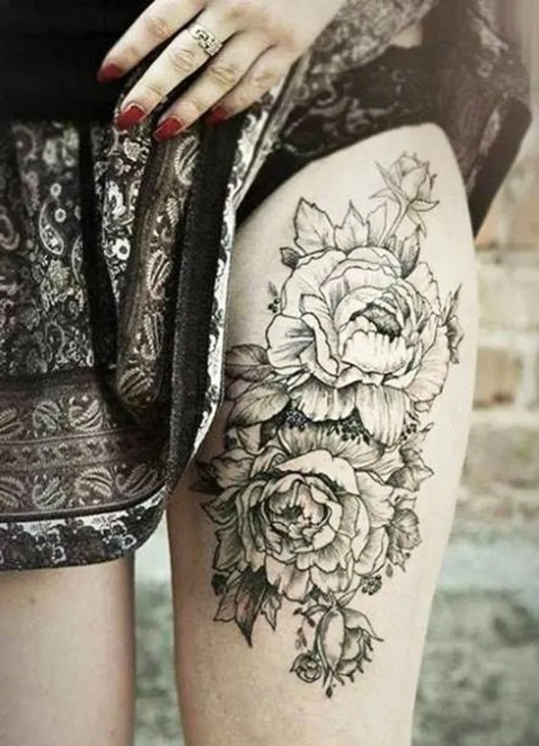 Attractive and Sexy Rose Tattoo Designs4