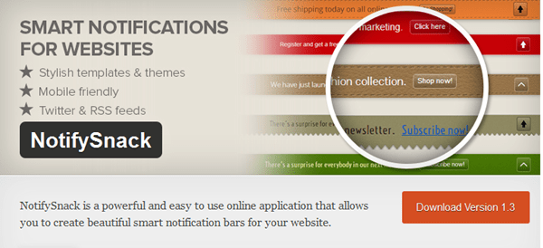 Best WordPress Notification Bar Plugins 3