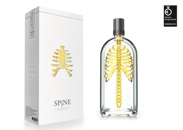 Spine Vodka Product Packaging Designs