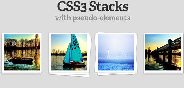 Create the Illusion of Stacked Elements with CSS3 Pseudo-Elements