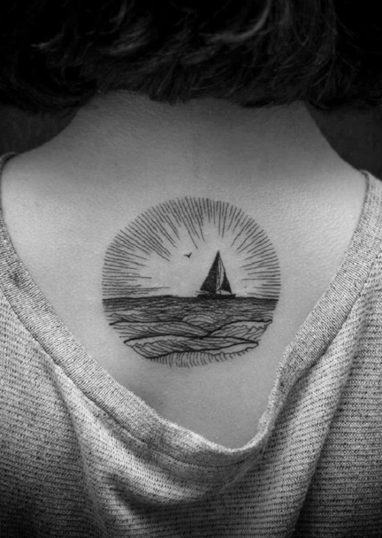 meaningful boat tattoo design examples 04