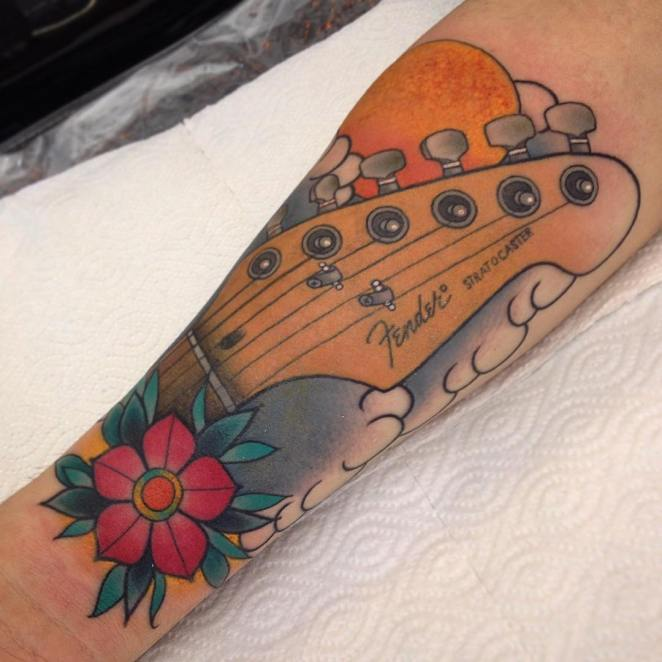 music tattoo designs (72) poppy guitar