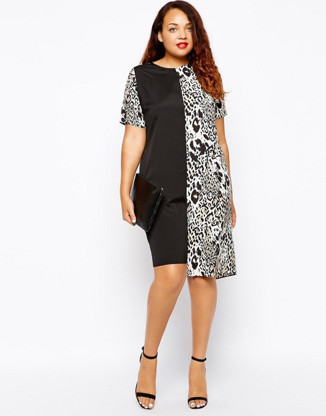 CURVE plus size T-Shirt Dress In Animal Print