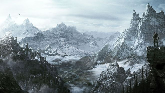 skyrim-mountains-beautiful-wallpaper