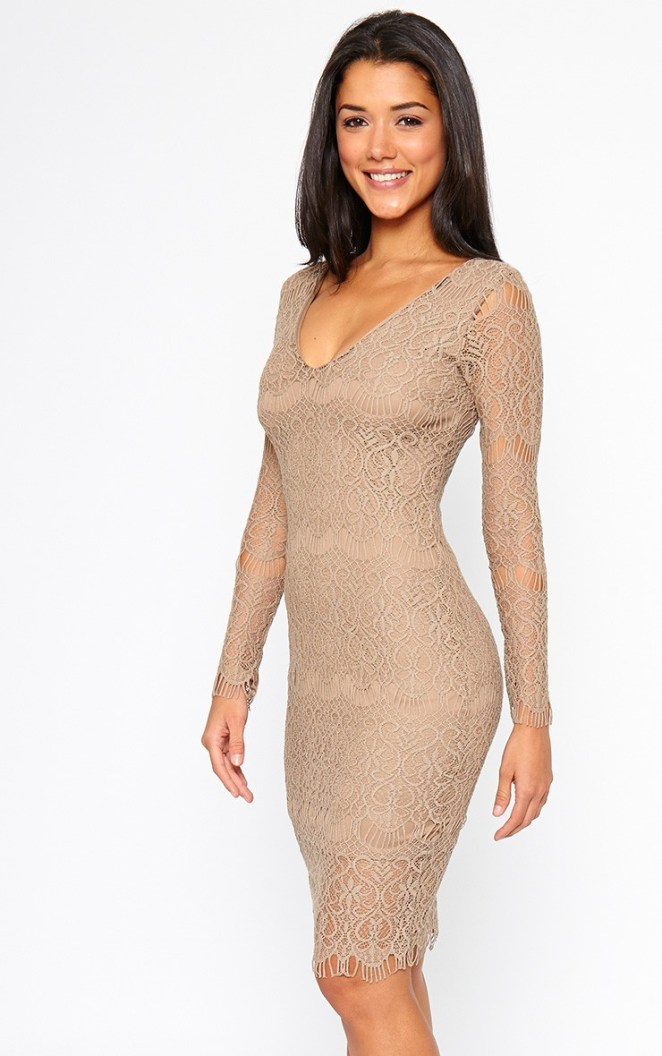 AX Paris V Neck Lace Midi Dress02