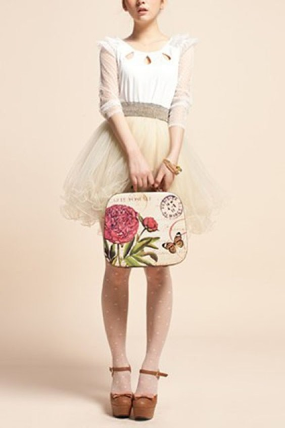 beige-princess-fluffy-skirt-with-lacy-hemline