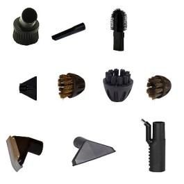 Lot d'accessoires standard AIR/VAPEUR Brosse siège,suceur étroit, 3 mini brosses, raclette, 2 suceurs larges, 1 porte accessoires
