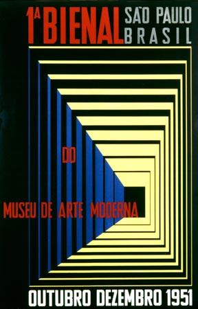 Cartel de la Primera Bienal de Sao Paulo.