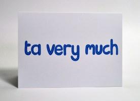 Ta very much