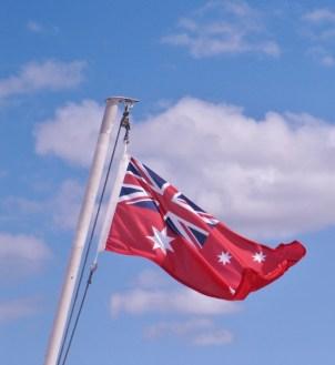 Flag on the ferry from Kangaroo island (Photo credit: http://www.lavaleandherworld.wordpress.com)